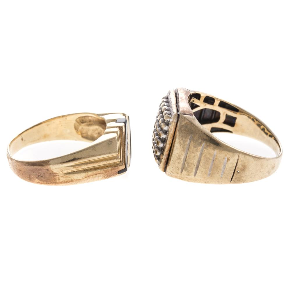 Lot 164: Two Gentlemen's Diamond Rings in Gold
