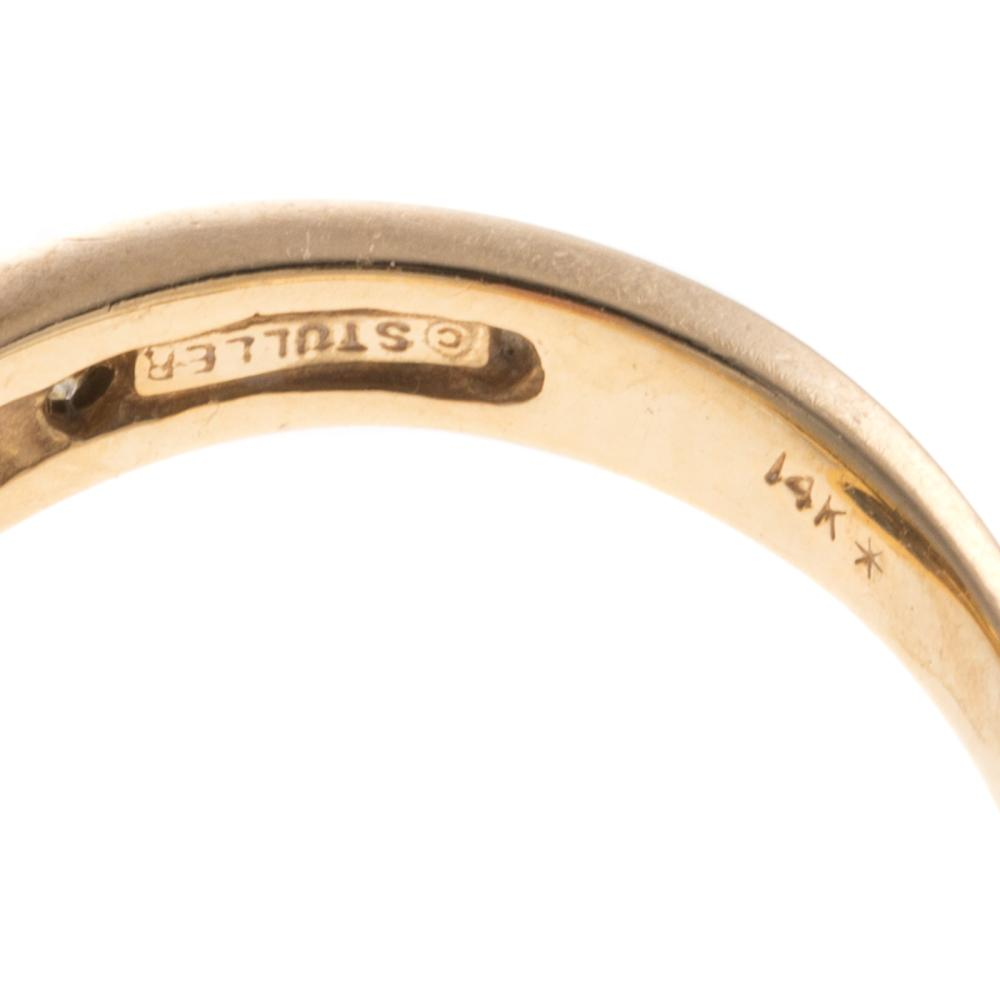 Lot 167: Two Ladies Rings with Diamonds in 14K & 10K