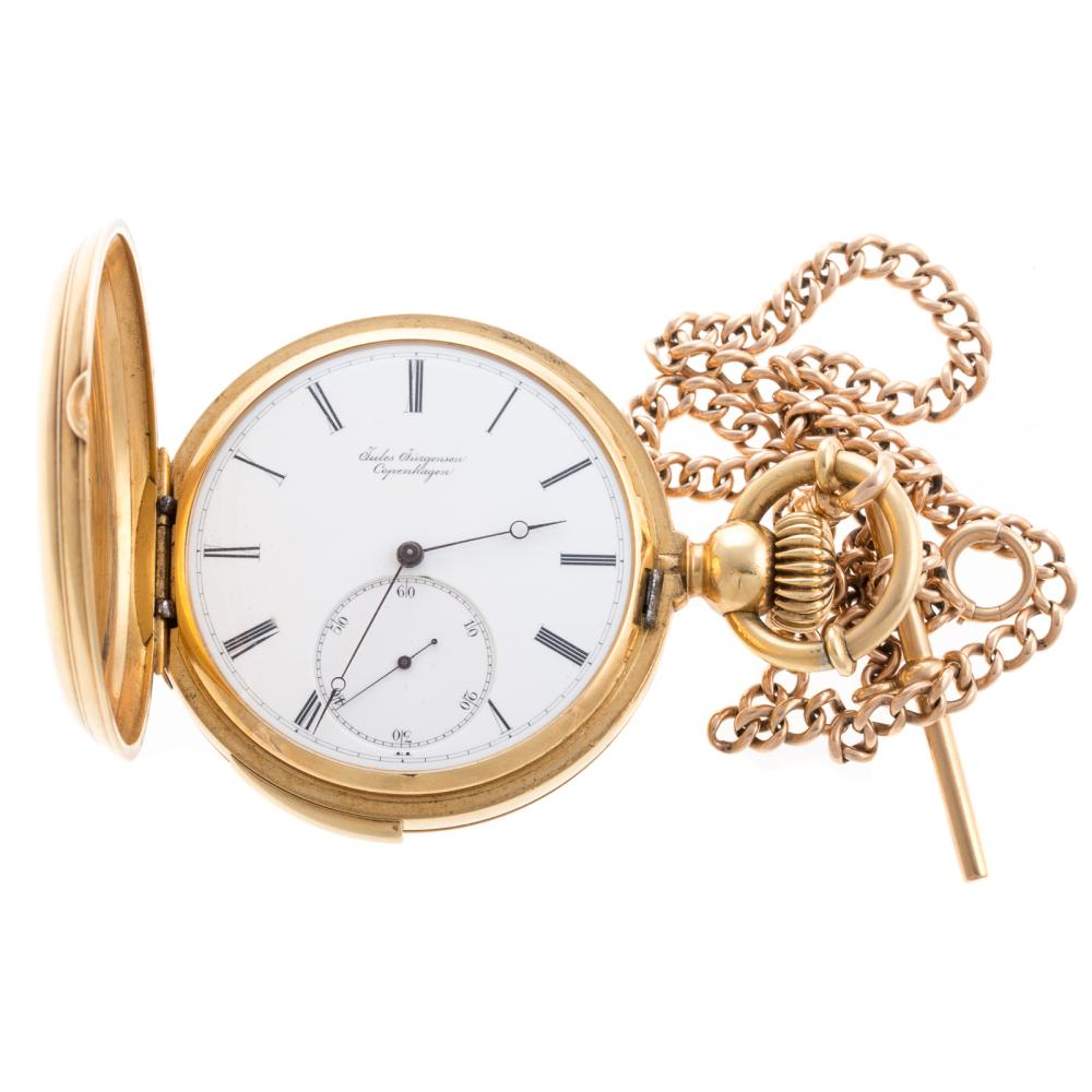 An 18K Jules Jurgenson Repeater Pocket Watch