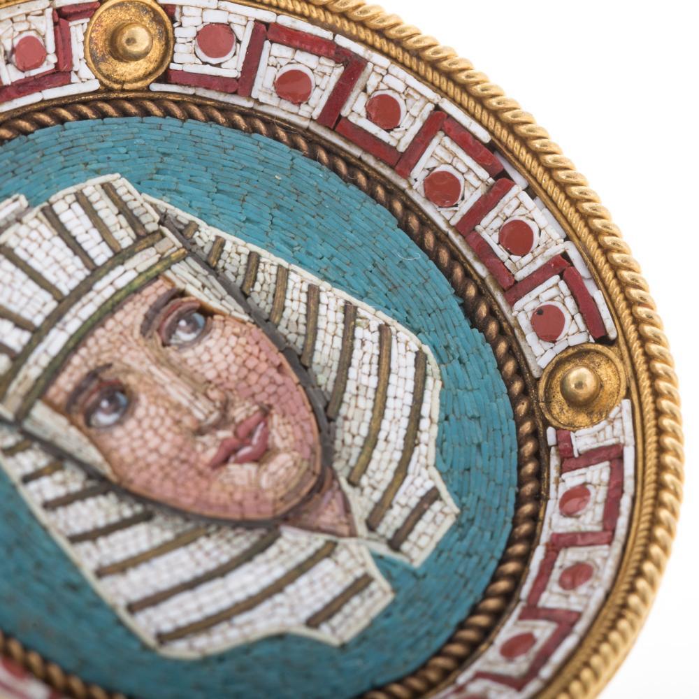 Lot 172: A Superb Micro Mosaic Matching Pin & Ear Pendants