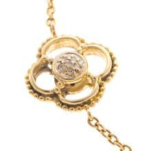 Lot 198: A Ladies Quatrefoil Diamond Necklace in 18K