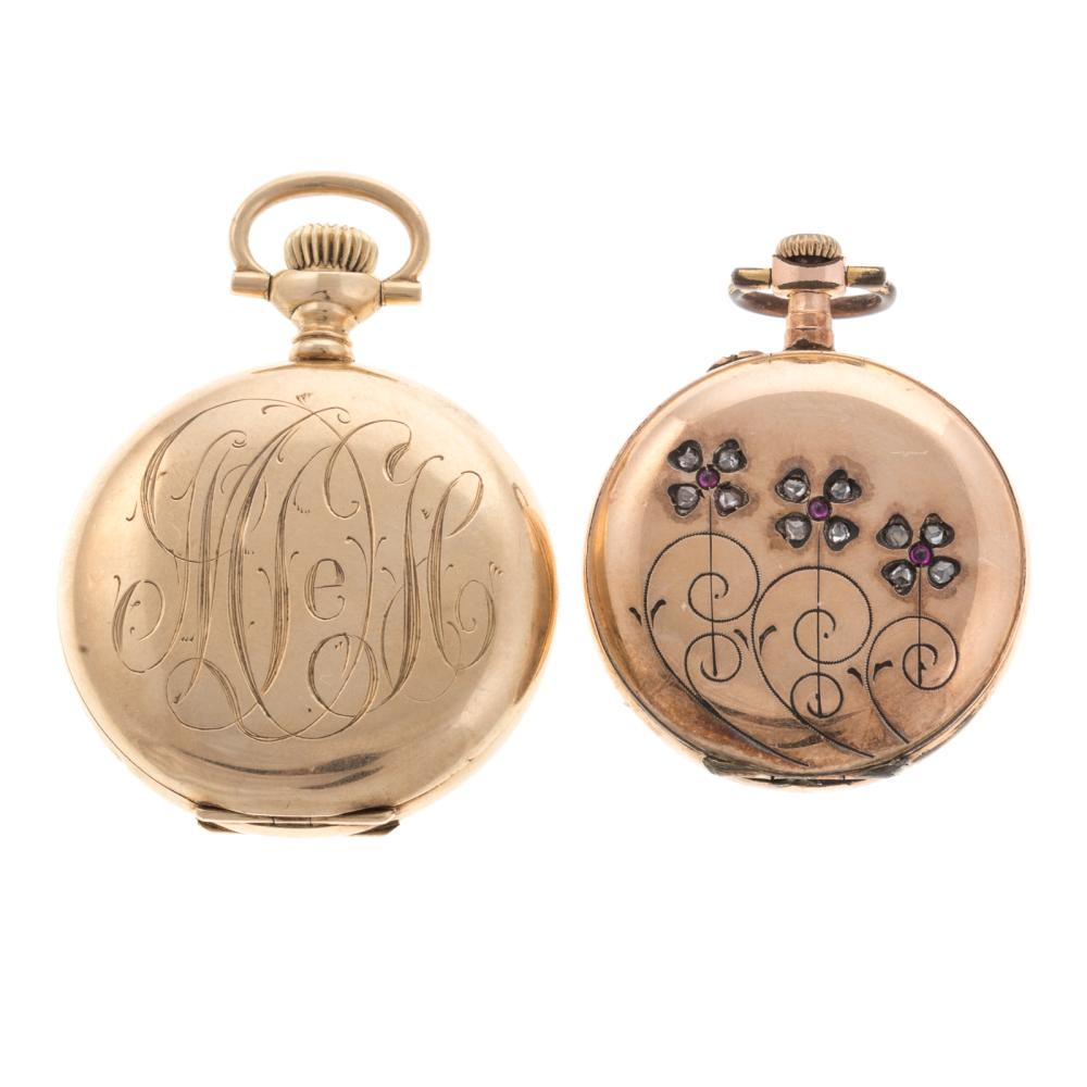 Lot 204: A Pair of Ladies Pocket Watches