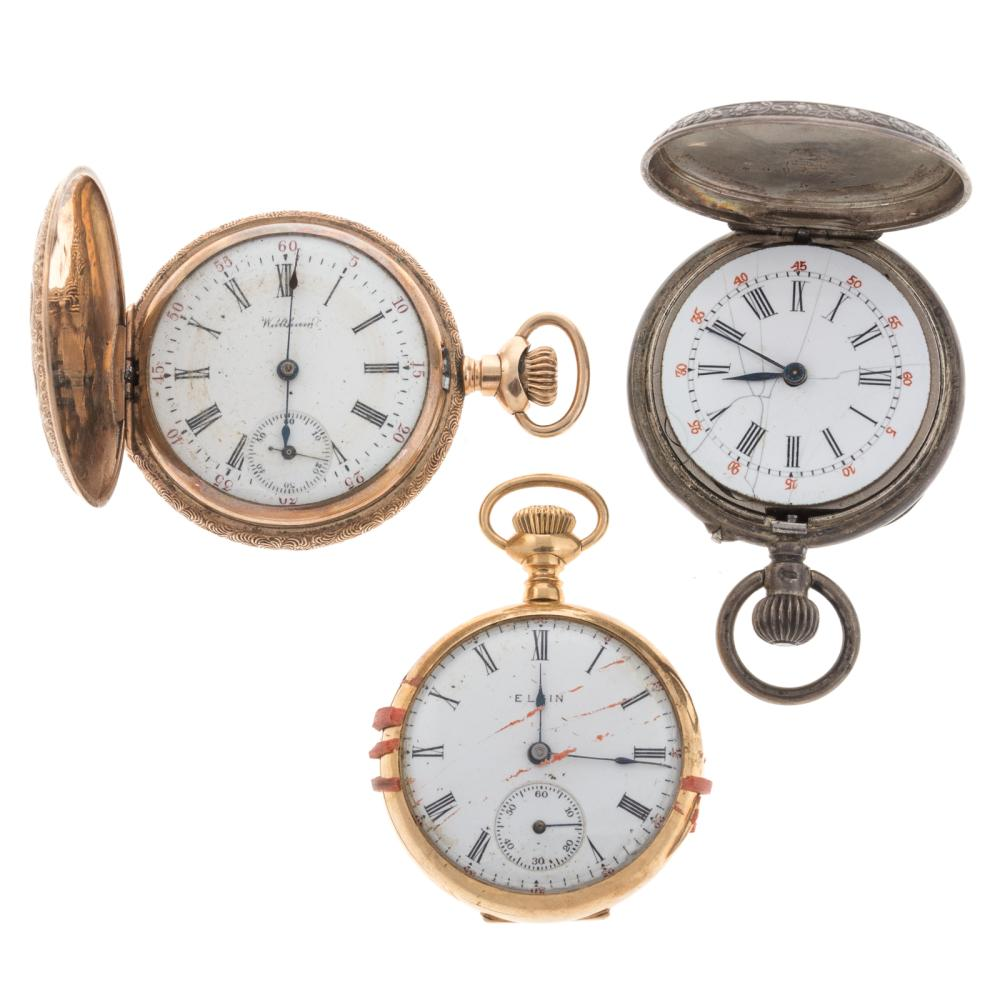 A Trio of Ladies Pocket Watches