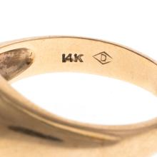 Lot 205: A Gent's Bypass Ring & Vintage Bar Pin