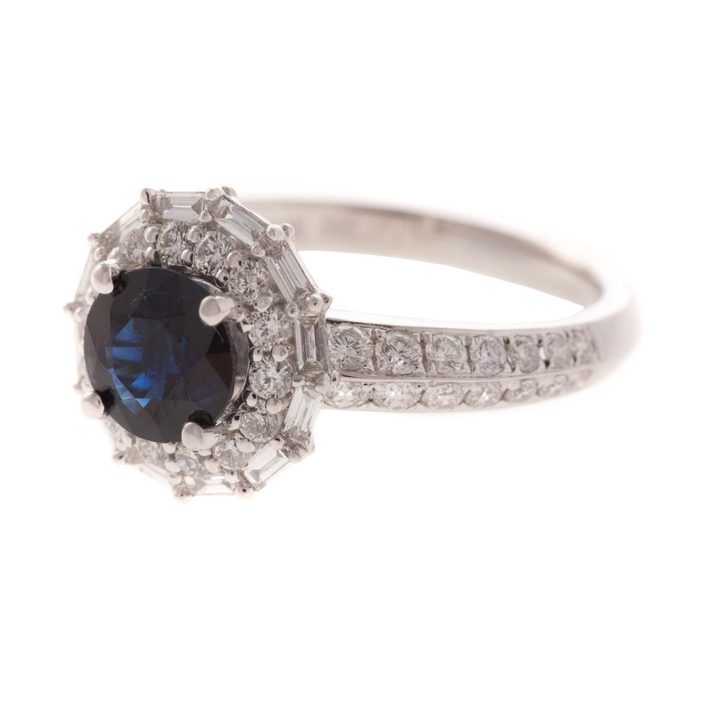 Lot 215: A Ladies Sapphire & Diamond Ring in 14K Gold
