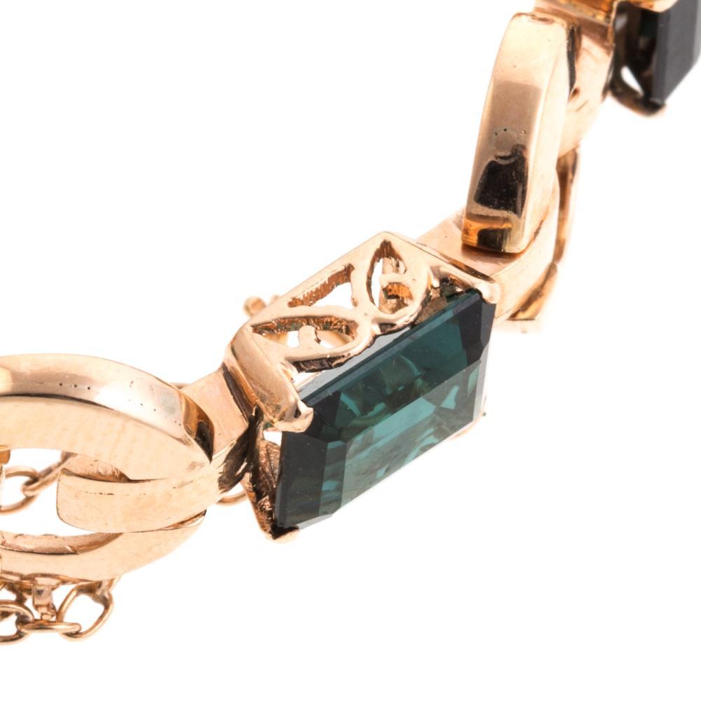 Lot 219: Two Ladies Gemstone Bracelets in 18K Gold