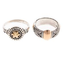 Lot 230: Sterling Silver Jewelry with Diamonds & 18K Gold