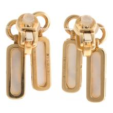 Lot 253: A Pair of 18K Mother of Pearl Earrings by Bvlgari