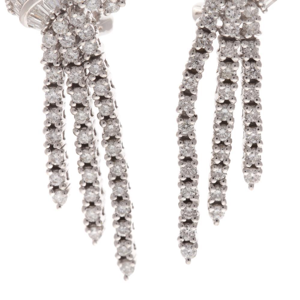 Lot 257: A Ladies Pair of 2.5 ctw Diamond Earrings in 14K