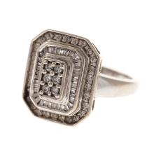 Lot 260: A Trio of Diamond Ring and Bands in Gold