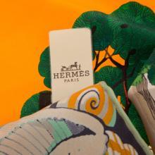 "Lot 301: A Hermes ""Sieste au Paradis"" Scarf 90"