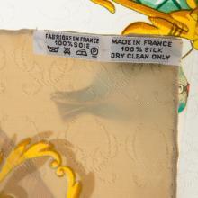 """Lot 302: A Hermes """"La Cle des Champs"""" Scarf 90"""