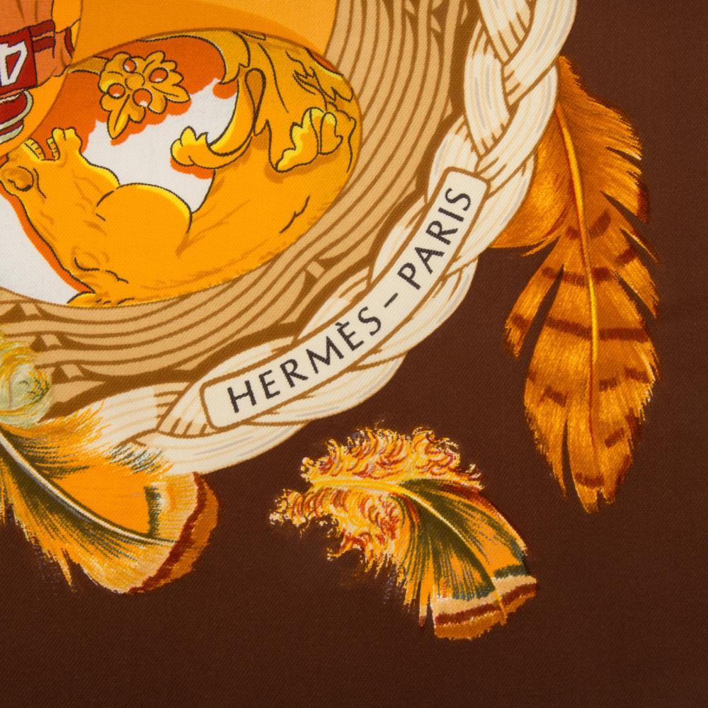 "Lot 304: A Hermes ""Couvée d'Hermes"" Scarf 90"