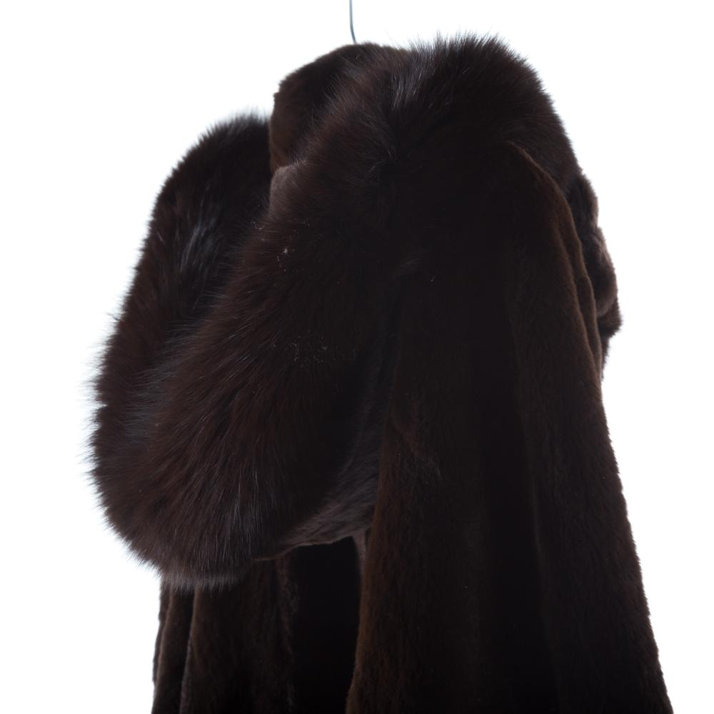 Lot 312: A Ladies Mink with Fox Fur Hooded Jacket