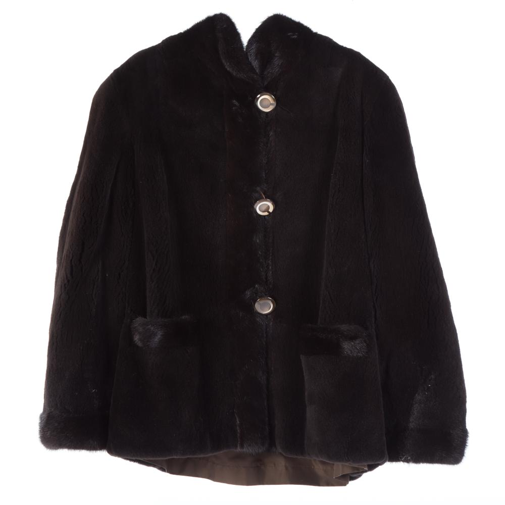 A Ladies Dark Brown Reversible Mink Jacket