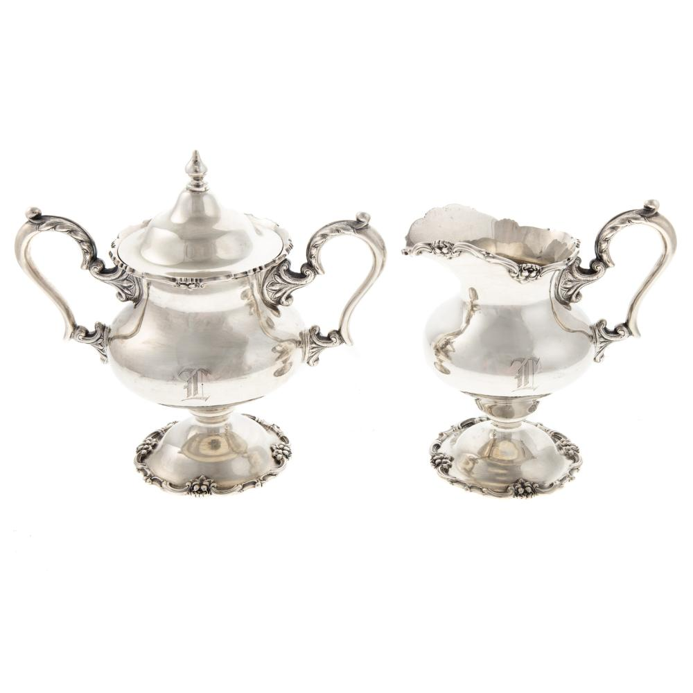 Stieff Sterling Creamer & Covered Sugar Bowl