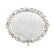 Lot 415: Kirk Repousse Sterling Round Waiter Tray