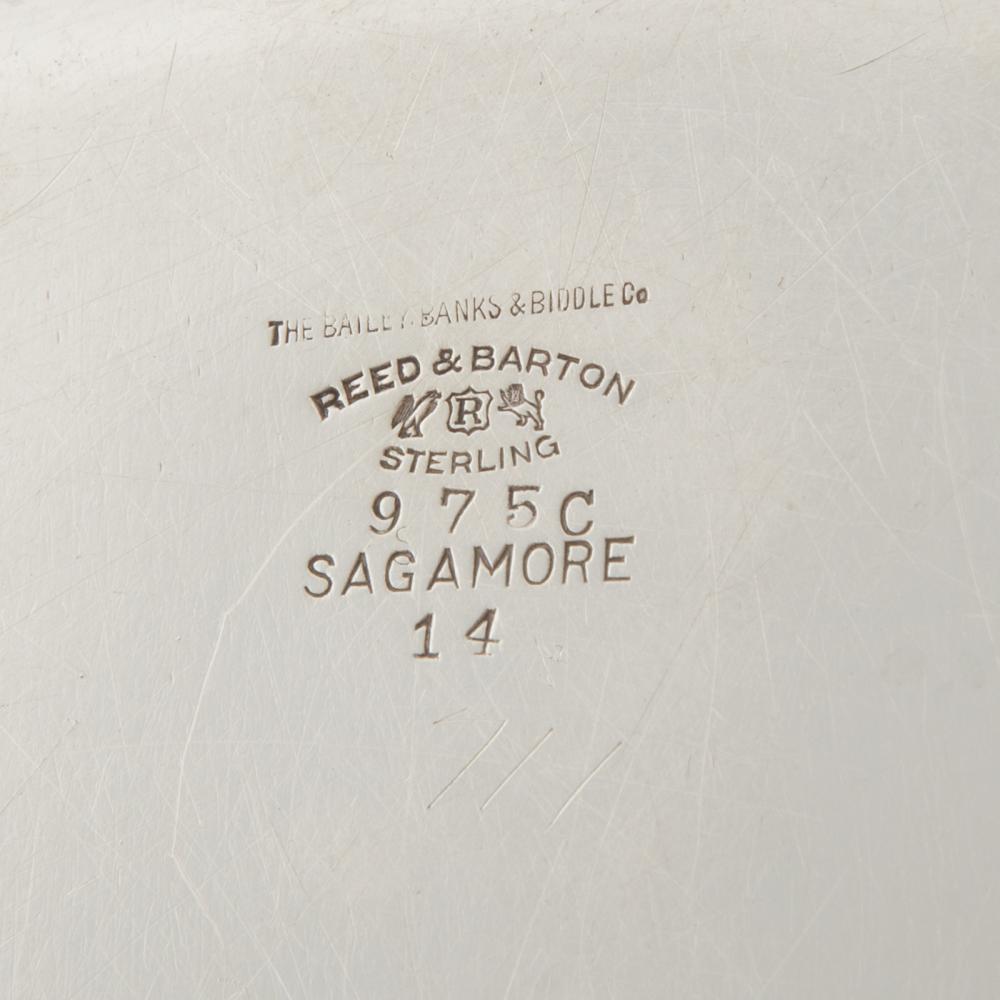 """Lot 417: Reed & Barton """"Sagamore"""" Sterling Platter"""