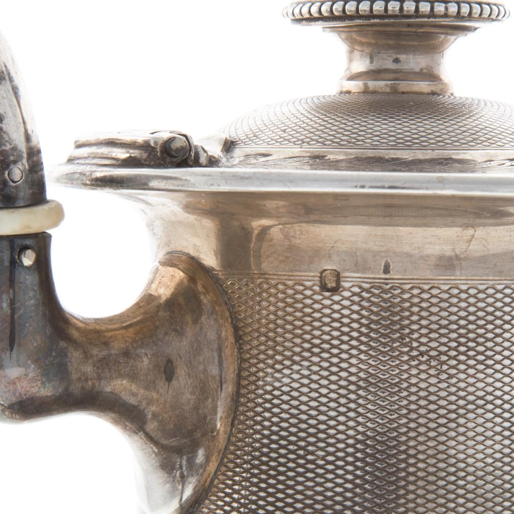 Lot 420: French Engine Turned Silver Coffee Pot