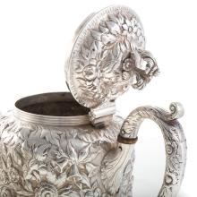 Lot 429: S. Kirk & Son Coin Silver Coffee and Tea Pot