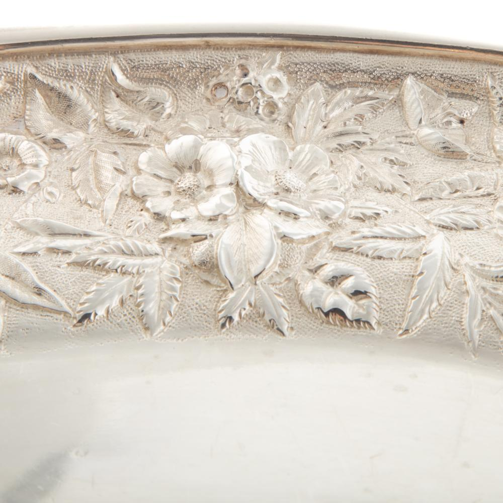 Lot 433: Pair of S. Kirk & Son Coin Silver Meat Dishes