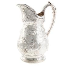 Lot 432: S. Kirk Coin Silver Water Pitcher