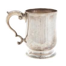 Lot 438: Scottish George III Silver Cann