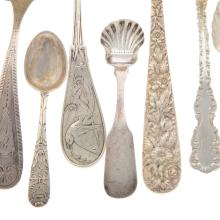 Lot 443: Collection of Assorted Silver Flatware