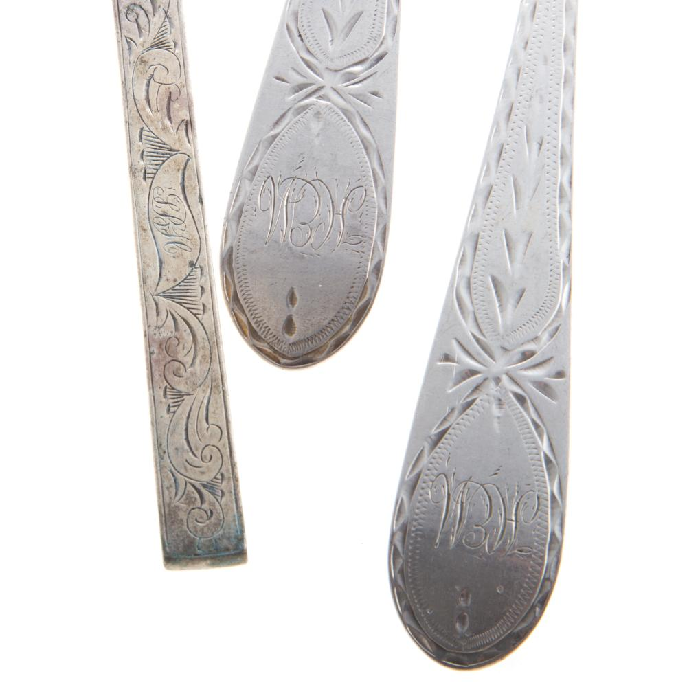 Lot 450: Group of Sterling Knives & Coin Silver Spoons