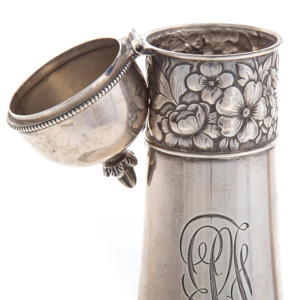 Lot 457: Gorham Sterling Silver Chocolate Pot