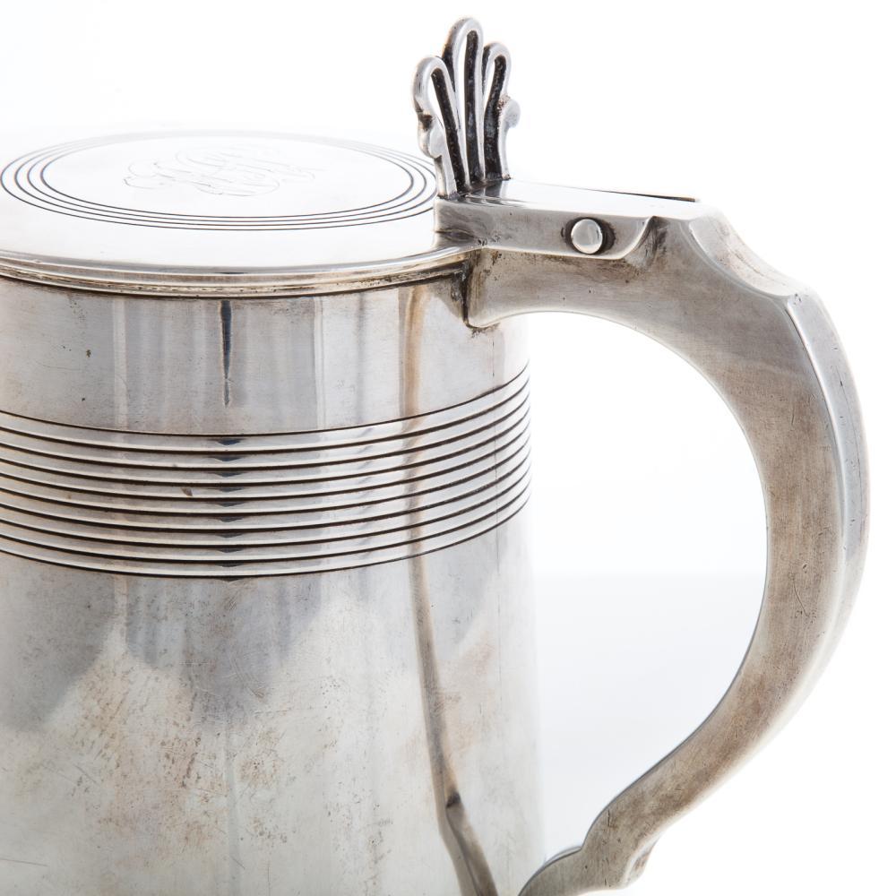 Lot 459: George III Silver Lidded Cann