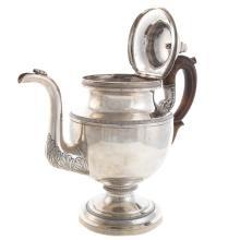 Lot 458: Impressive Philadelphia Coin Silver Coffee Pot