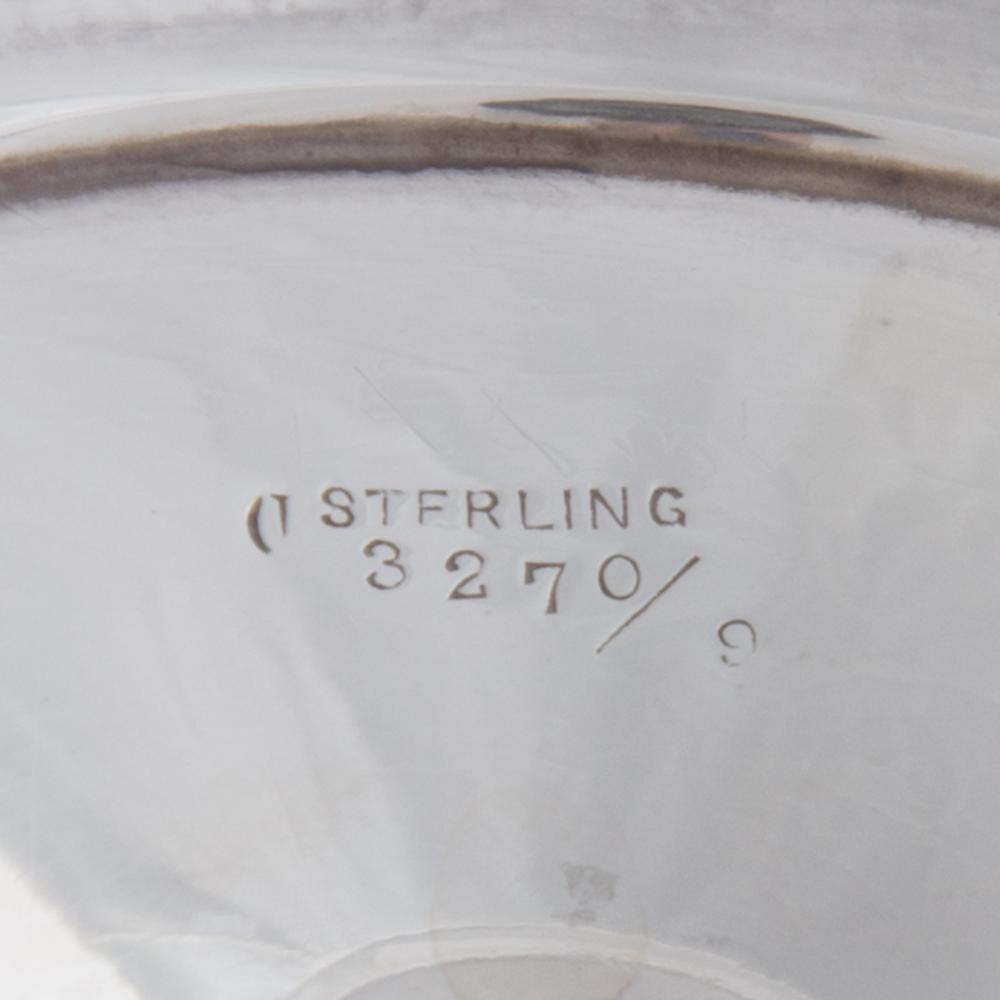 Lot 467: Pair American Sterling Silver Tazzas