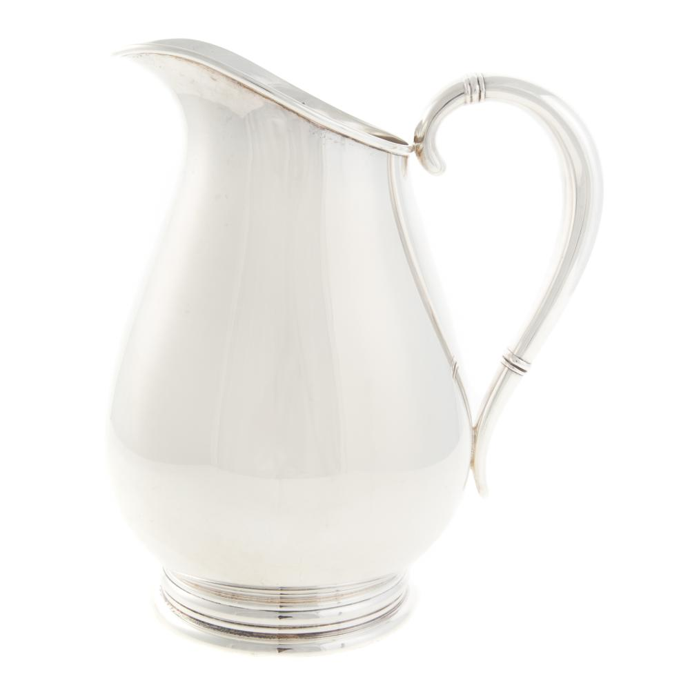 "Lot 474: International Sterling ""Royal Danish"" Pitcher"