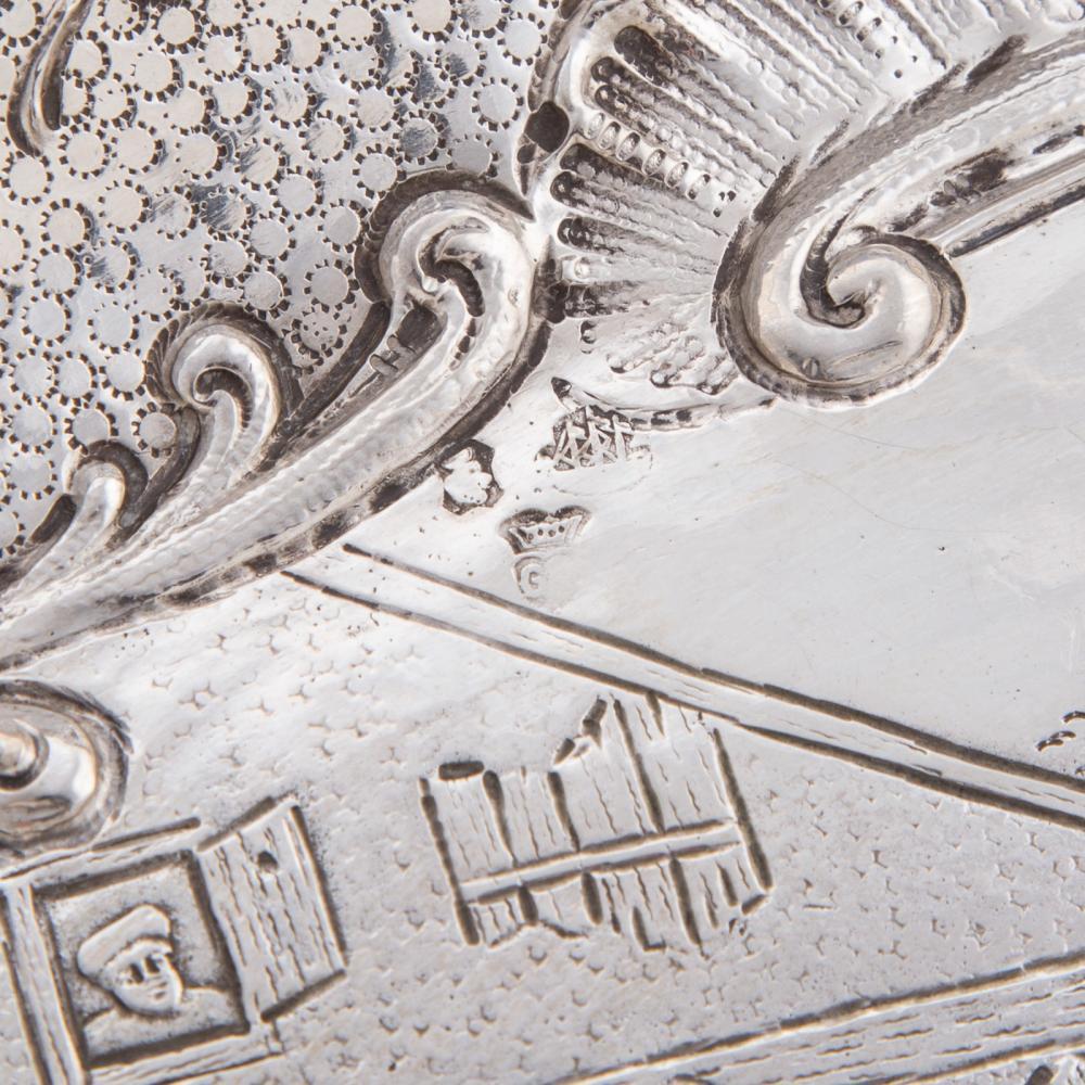 Lot 472: German Silver Repousse Dish