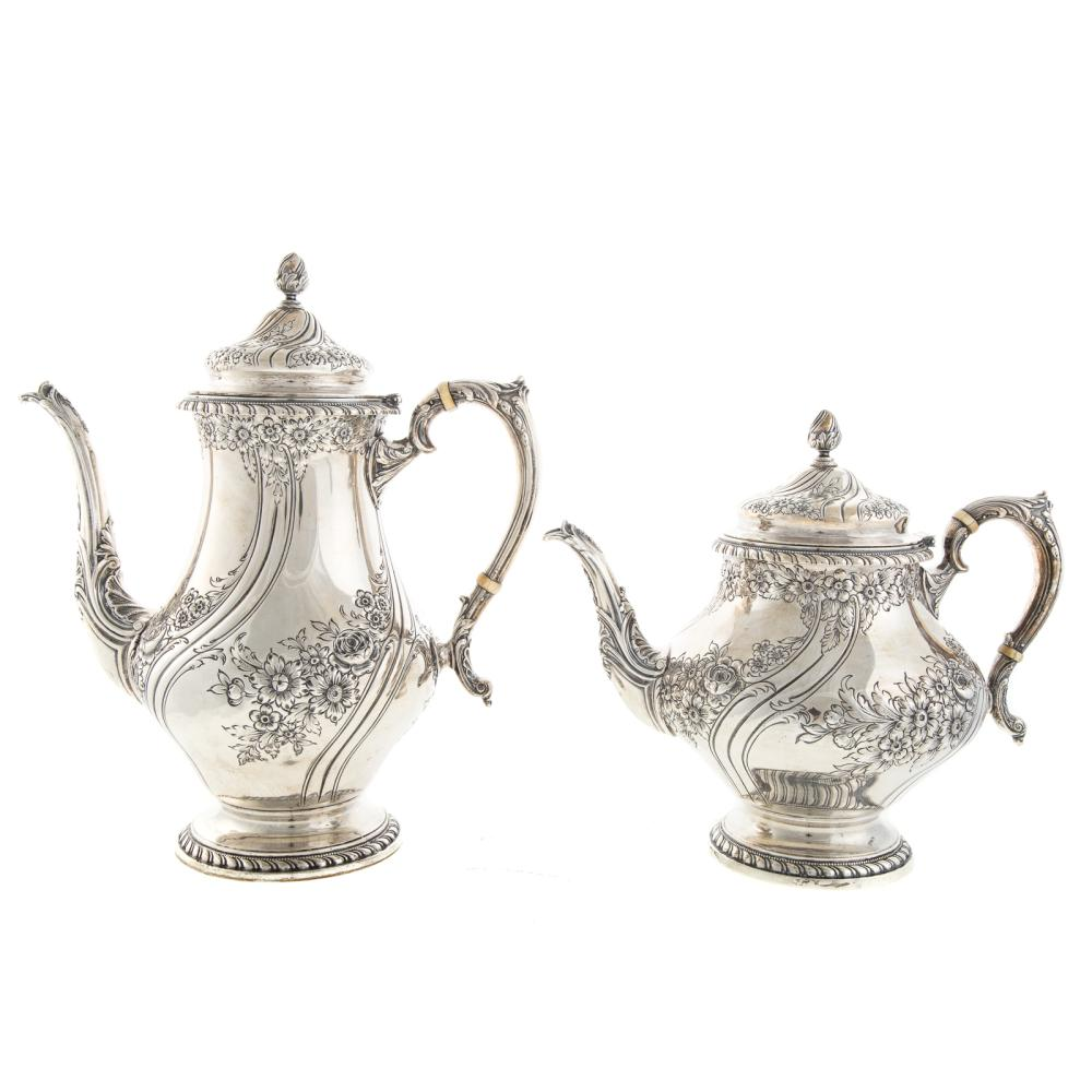 "Lot 477: Reed & Barton Sterling ""Devonshire"" Coffee Set"