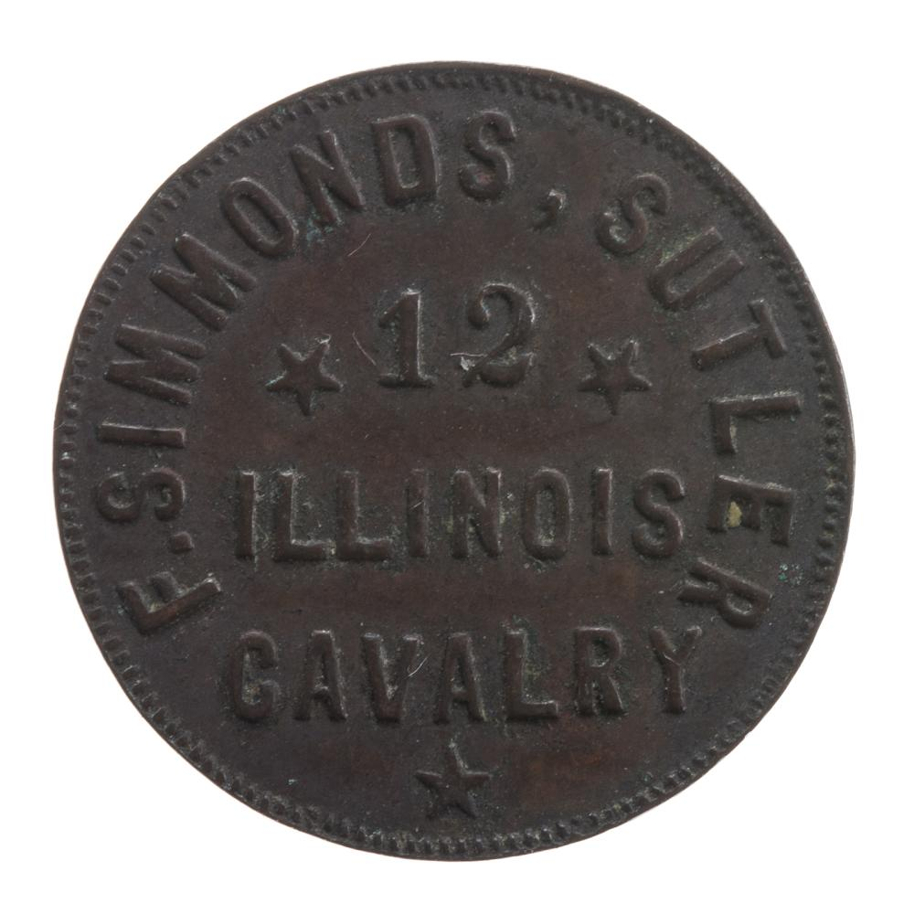 Lot 613: F. Simmonds 25 cent Sutler Token