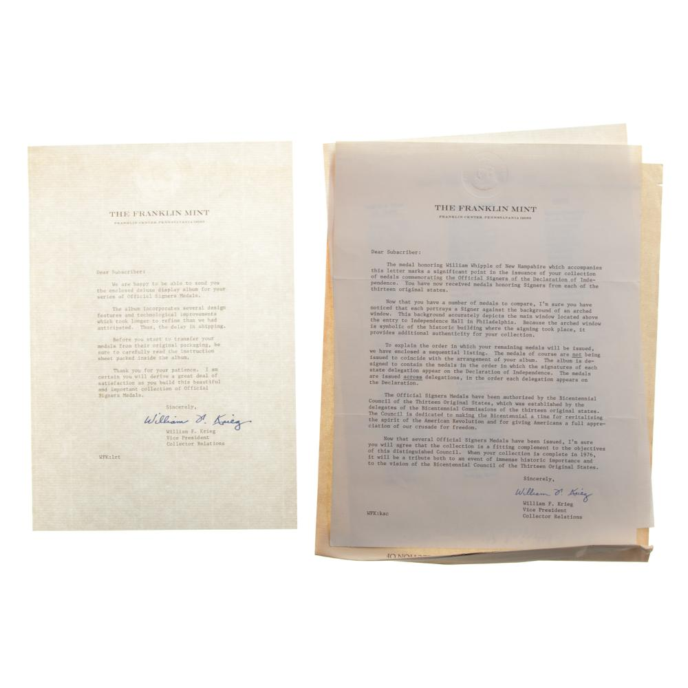 Lot 619: Official Signers Declaration of Independence -