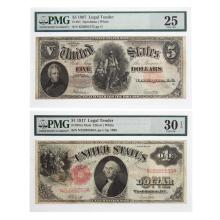 Lot 631: Pair of Nice Large Legal Tender Notes