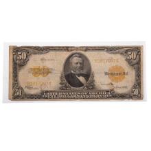 Lot 630: 1922 $50 Gold Certificate VG