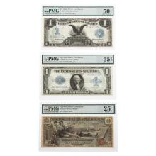 Lot 633: Trio of Nice/Iconic Silver Certificates