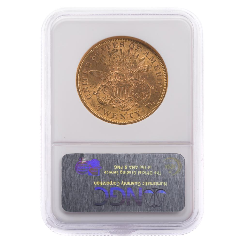 Lot 646: 1875-S $20 Double Eagle, Type 2, NGC MS-60