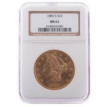 Lot 650: 1883-S $20 Double Eagle NGC MS-61