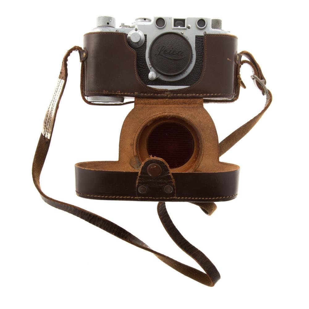 Lot 708: Leica III F Camera With Leitz Elmar Lens