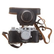 Lot 719: Leica III C Camera, Lens and Carrying Case