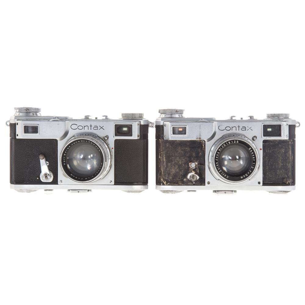 Lot 728: Two Zeiss Ikon Contax Cameras