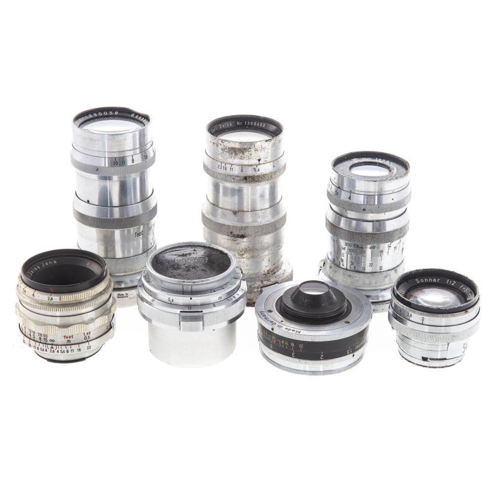 Lot 731: Seven Zeiss Ikon Lenses