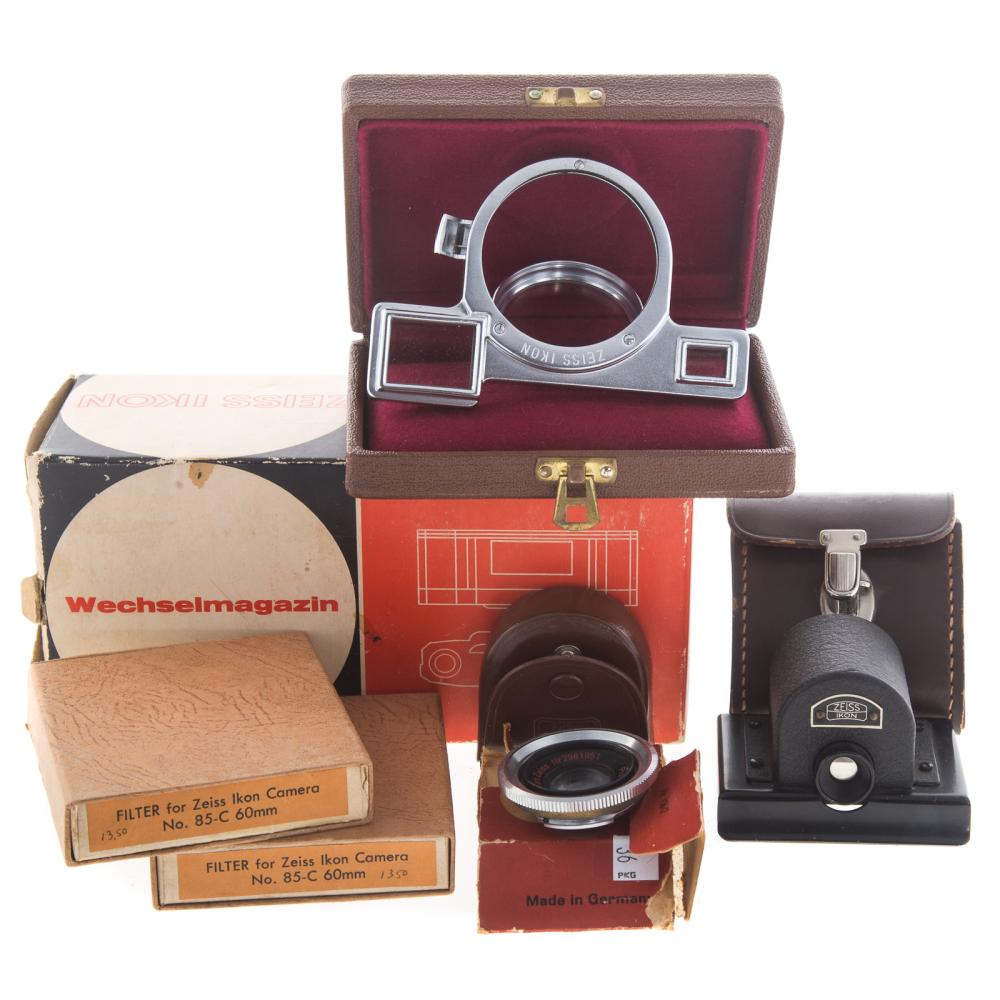 Lot 732: Five Zeiss Ikon Camera Accessories & Lens