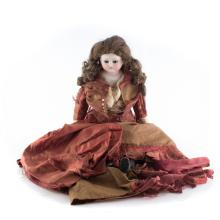 German bisque, cloth and composition doll
