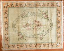 Silk Chinese rug, approx. 8 x 10